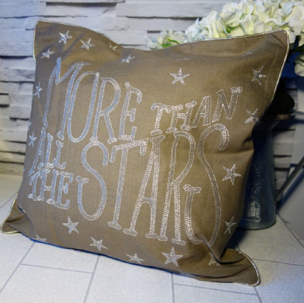 60% OFF  More than all the stars cushion cover